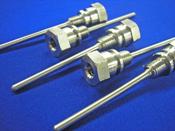 切削フランジを円周溶接加工/先端封止溶接加工
